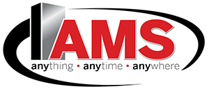 AMS logo, anything, anytime, anywhere.