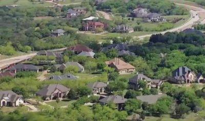 Cedar Hill Texas, an aerial view of residential homes.
