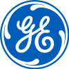 GE logo with a blue circle containing G and E in a special form of cursive.