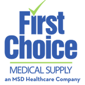 First Choice Medical Supply, an MSD Healthcare Company - a logo.