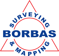 Borbas Surveying & Mapping logo.