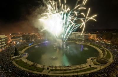 Fireworks display in Newport News, Virginia.