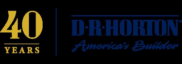D R Horton, America's Builder. 40 years logo.