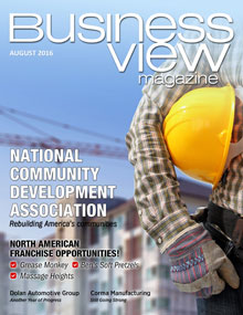August 2016 issue cover of Business View Magazine.
