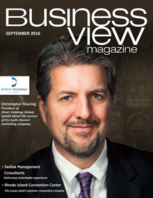 September 2016 issue cover for Business View Magazine.