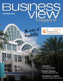 October 2016 issue cover of Business View Magazine.