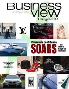 April 2017 Issue cover Business View Magazine.