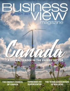 August 2017 Issue cover Business View Magazine.