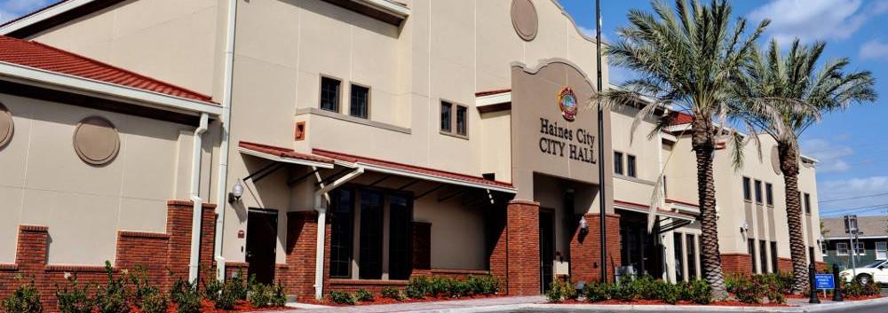 Haines City, Florida city hall building.