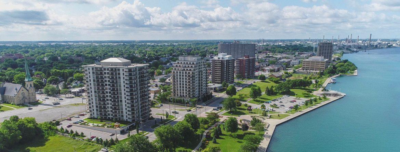 Sarnia, Ontario aerial view.