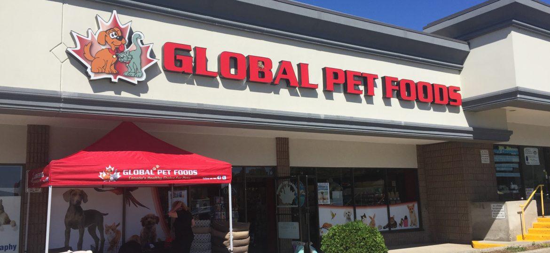 Global Pet Food storefront.