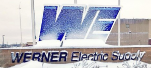 Werner Electric Ventures. Werner Electric Supply sign.