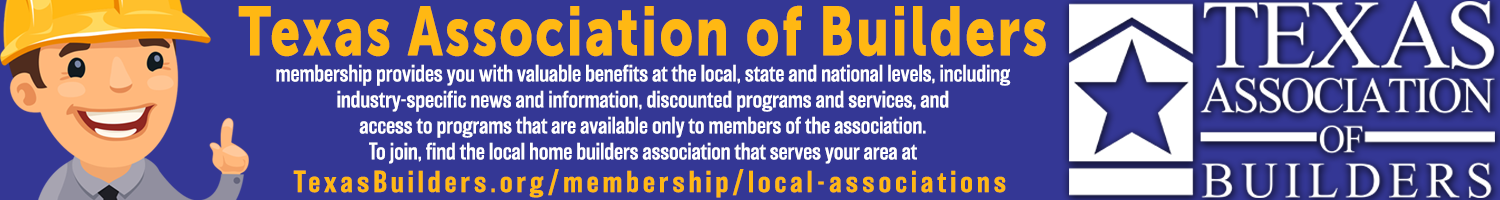 Texas Association of Builders banner ad.