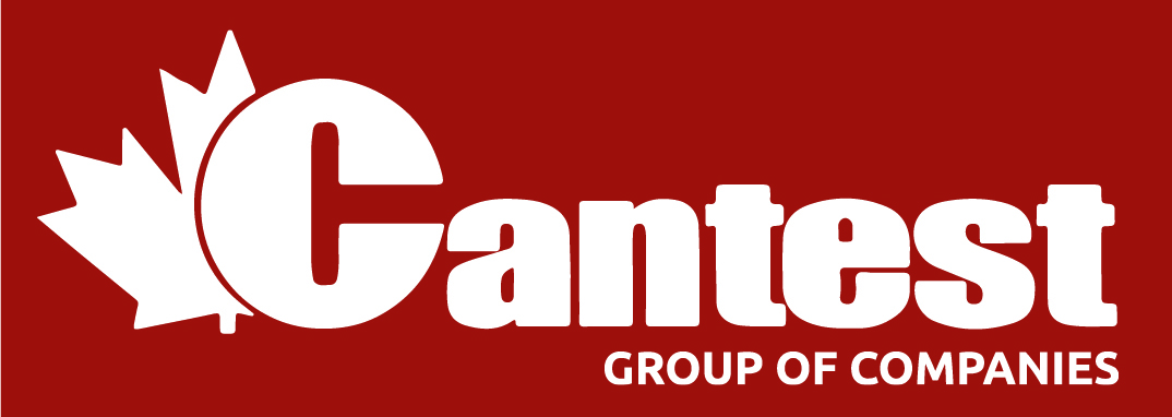 Cantest Group Of Companies logo. Maple Leaf on the left behind the C in Cantest.