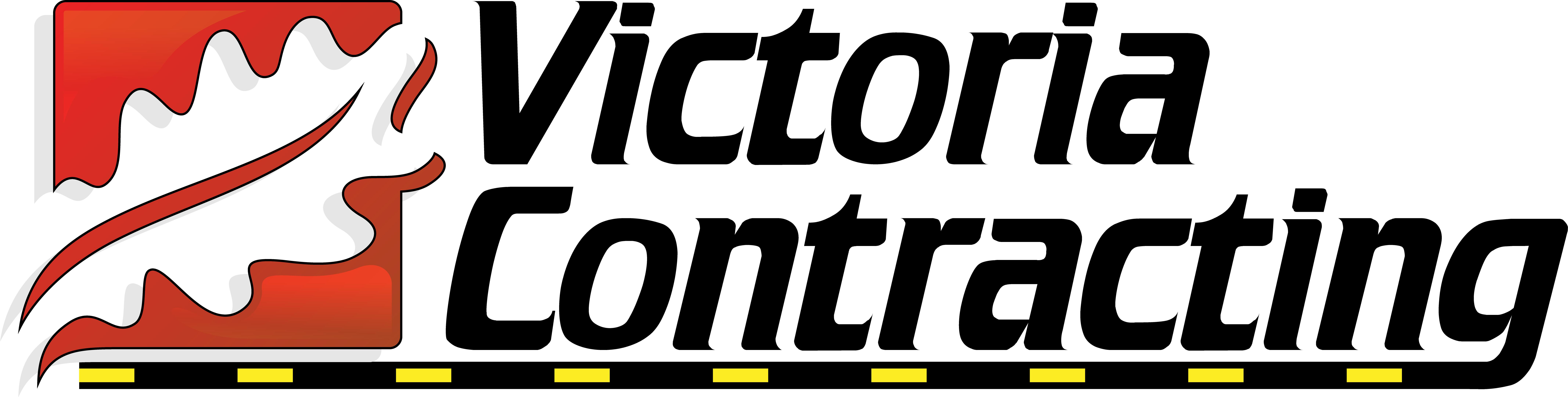 Victoria Contracting logo.
