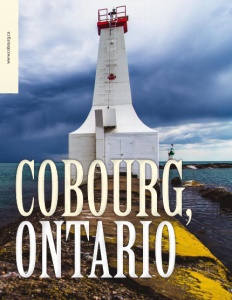 Cobourg Ontario brochure cover showing a lighthouse.