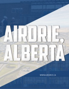 Airdrie, Alberta brochure cover.