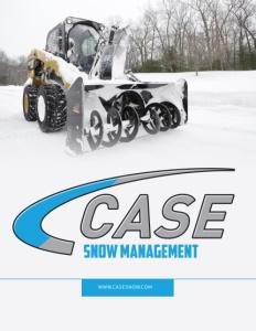 Case Snow Management brochure cover.