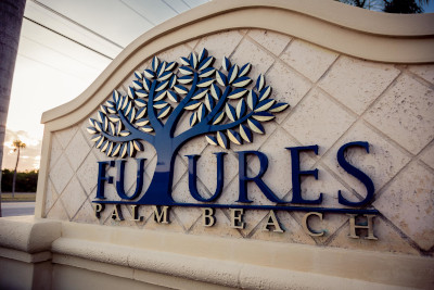 Futures of Palm beach sign.
