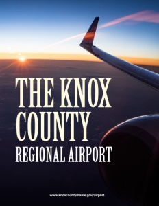 Knox County Regional Airport brochure cover.