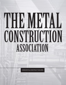 The Metal Construction Association brochure cover.