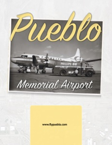 Pueblo Memorial Airport brochure cover.