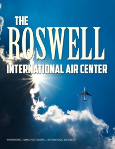 Roswell International Air Center brochure cover.
