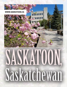 Saskatoon, Saskatchewan brochure cover.