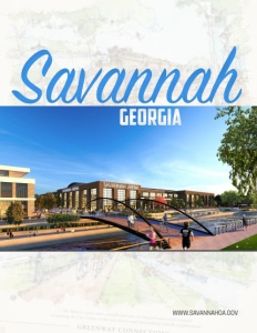 Savannah Georgia brochure cover.