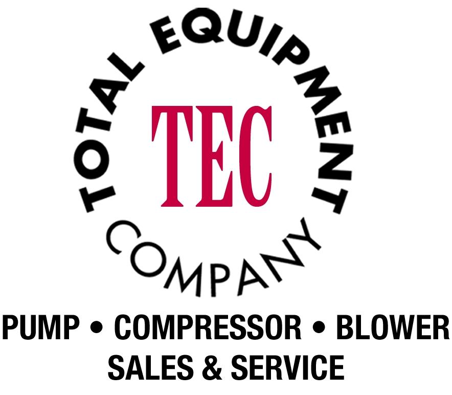 Total Equipment Company logo. Additional text of Pump, Compressor, Blower, Sales & Service.