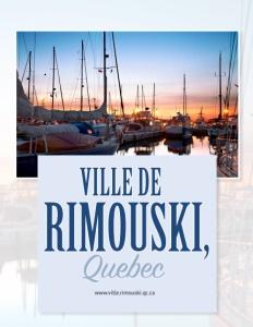 Ville de Rimouski Quebec brochure cover.