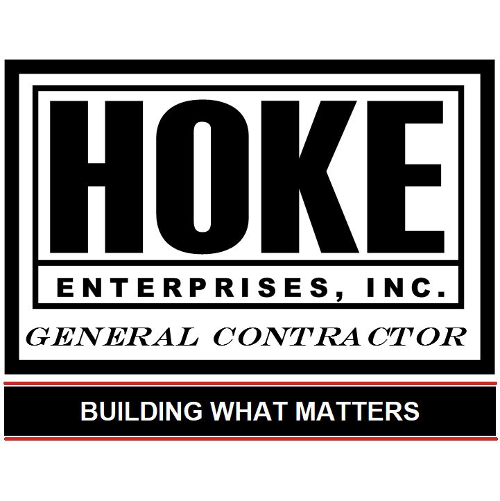 Hoke Enterprises Inc logo. General Contractor. Building What Matters.