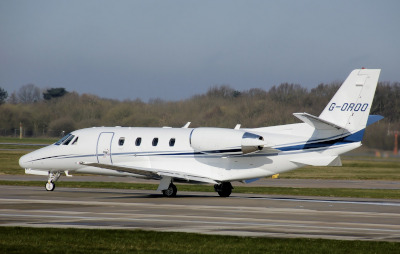 Cape Fear Regional Jetport; Cessna Citation XLS on the runway.
