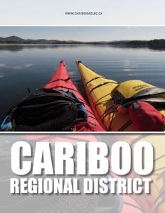 Cariboo Regional District British Columbia brochure cover.