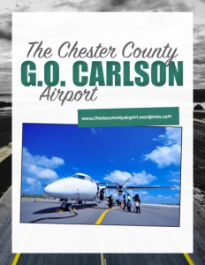 Chester County G.O. Carlson Airport brochure cover.