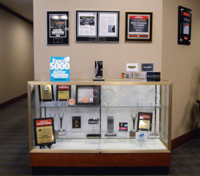 The Remi Group awards display.