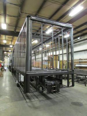 ShowHauler Trucks build in progress, metal frame.
