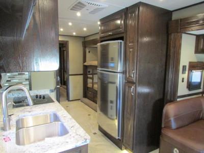 ShowHauler Trucks interior view of the kitchen.