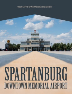 Spartanburg Downtown Memorial Airport brochure cover.