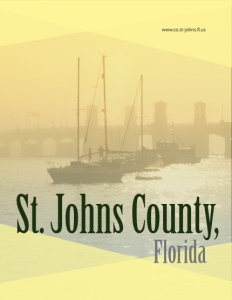 St. Johns County Florida brochure cover.