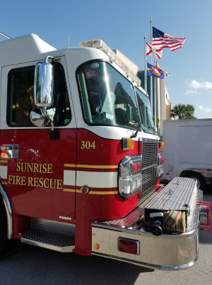 Sunrise, Florida fire truck.
