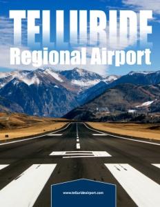 Telluride Regional Airport brochure cover.