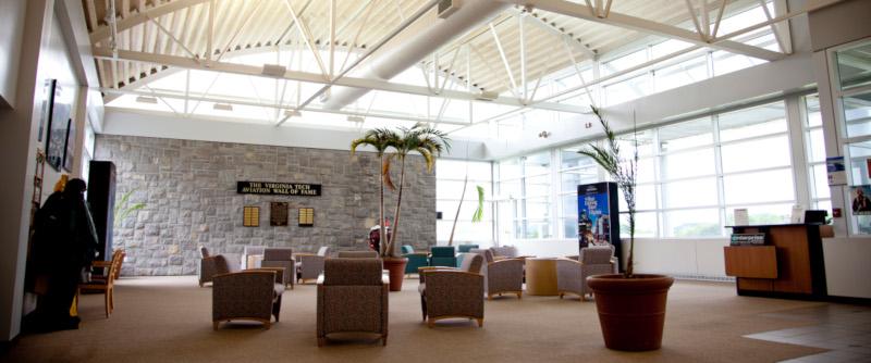 Virginia Tech airport interior.
