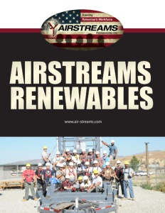 Airstreams Renewables brochure cover.