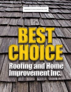 Best Choice Roofing and Home Improvement Inc. brochure cover.