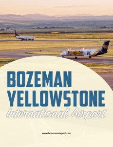 Bozeman Yellowstone International Airport brochure cover.