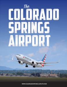 The Colorado Springs Airport brochure cover.