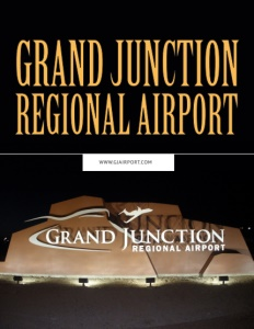 Grand Junction Regional Airport brochure cover.