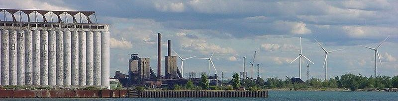 Lackawanna, New York windmills.