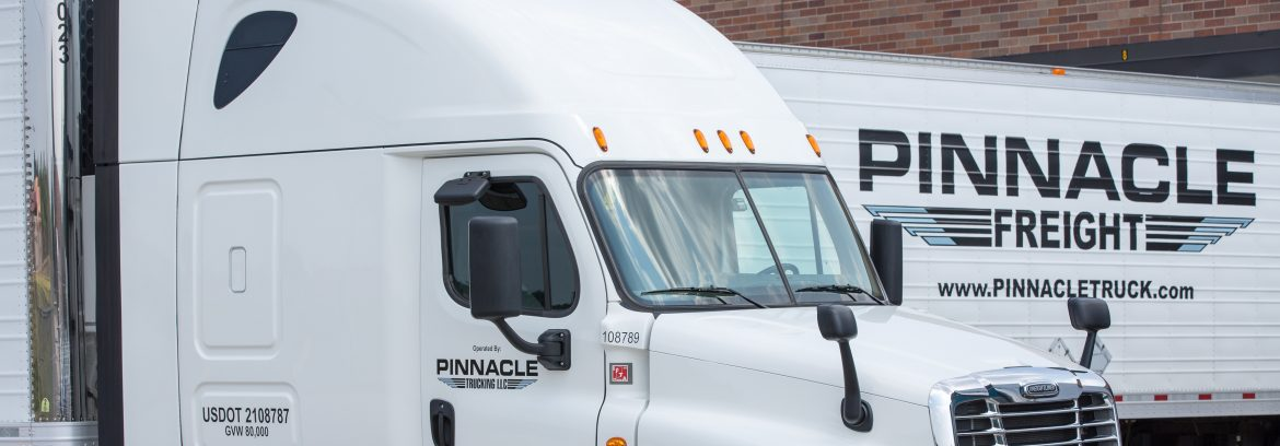 Pinnacle Freight semi truck.